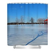 Ice On Snow Shower Curtain