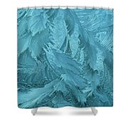Ice Patterns Formed On Glass Shower Curtain