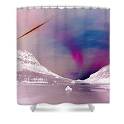 Ice Planet Shower Curtain
