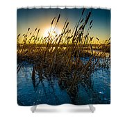 Ice Ponds Shower Curtain