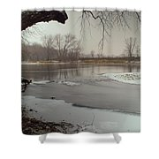 Ice River Shower Curtain