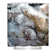 Ice Rock Shower Curtain