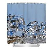 Ice Ships Shower Curtain