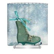 Ice Skate Decoration Shower Curtain by Amanda Elwell