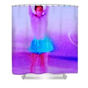 Ice Skater Abstract Shower Curtain