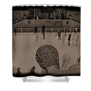 Ice Skating At Rockefeller Center In The Early Days Shower Curtain