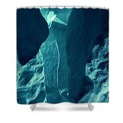 Ice Snow Natural Formation Austria Shower Curtain