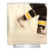 Ice Speed Shower Curtain by Karol Livote