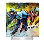 Ice Speed Skating 01 Shower Curtain