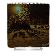 Ice Storm Night Shower Curtain