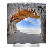 Ice Tunnel Shower Curtain