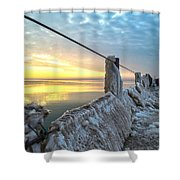 Ice Walk Shower Curtain