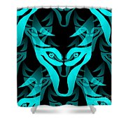 Ice Wolf Shower Curtain
