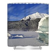 Iceberg And Mount Mcginnis Shower Curtain