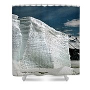 Iceberg At Cape Hallett Antarctica Shower Curtain