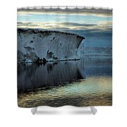 Iceberg In The Ross Sea At Night Shower Curtain