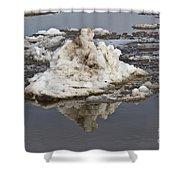 Iceberg Mini Shower Curtain by Tom Gari Gallery-Three-Photography