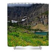 Iceberg Park Tarn Glacier National Park Montana Shower Curtain
