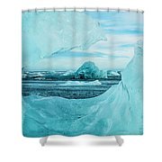 Icebergs On The Southern Beach Shower Curtain