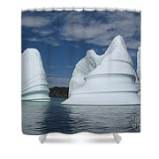 Icebergs Shower Curtain