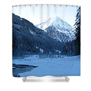 Iceblue Snow Shower Curtain
