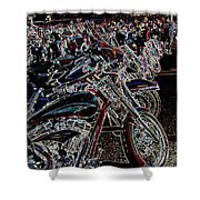 Iced Out Bikes Shower Curtain