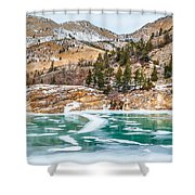 Iced Over Shower Curtain
