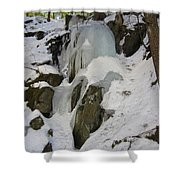Iced Rocks Shower Curtain