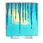 Iced Sky Shower Curtain