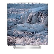 Iced Water Shower Curtain