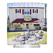 Icehouse Waterfront Restaurant 3 Shower Curtain
