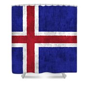Iceland Flag Shower Curtain