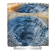 Iceland Natural Abstract Mudpot And Sulphur Shower Curtain