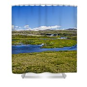 Iceland Panorama Shower Curtain