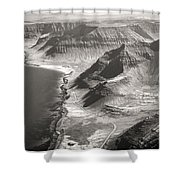 Iceland Plateau Mountains Shower Curtain