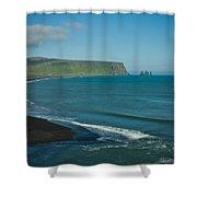 Icelandic Beach Shower Curtain