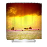 Wanna Live At The Magic Icelandic Countryside, At Least In The Summer  Shower Curtain