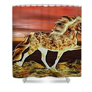 Icelandic On Fire Shower Curtain