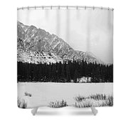 Icey Landscape Shower Curtain