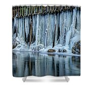 Icicles 2 Shower Curtain