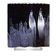 Icicles In A Cave Shower Curtain