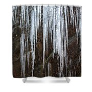 Icicles On A Cliff Shower Curtain