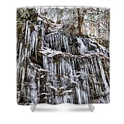Icicles On Forbidden Drive Shower Curtain
