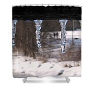 Icicles On The Bridge Shower Curtain