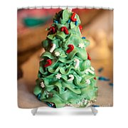 Icing Christmas Tree Shower Curtain