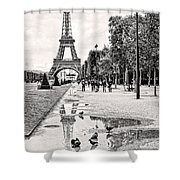 Icon Reflected Bw Shower Curtain
