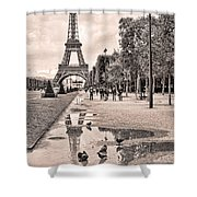 Icon Reflected Sepia Shower Curtain