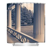 Iconic Columns On An Estate Shower Curtain