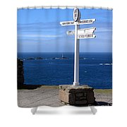 Iconic Lands End England Shower Curtain