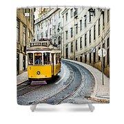 Iconic Lisbon Streetcar No. 28 IIi Shower Curtain